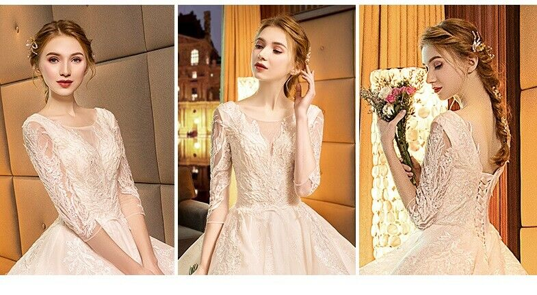 2019 New Hepburn French Retro Starry Long-Sleeved Gown.