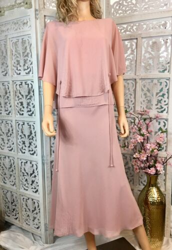 Adrianna Papell pretty refined linen and ivory cotton dress with flowers in shades of pink and orange size 10 Vintage linen dress