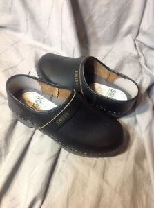 Women-039-s-SIMSON-Orthopedisch-Black-Handmade-Leather-Clogs-Shoes-37-Us-7