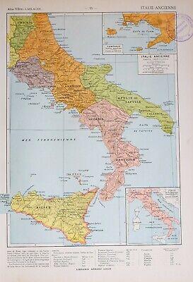 Cartina Sud Italia E Isole.Antica Mappa Storica Del Sud Italia Sicilia Sannio Lazio Roma Lucania Ebay