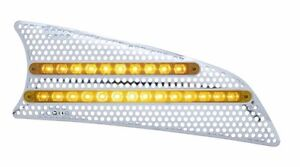 Kenworth T660 LED Air Intake - (Passenger) Amber/Clear