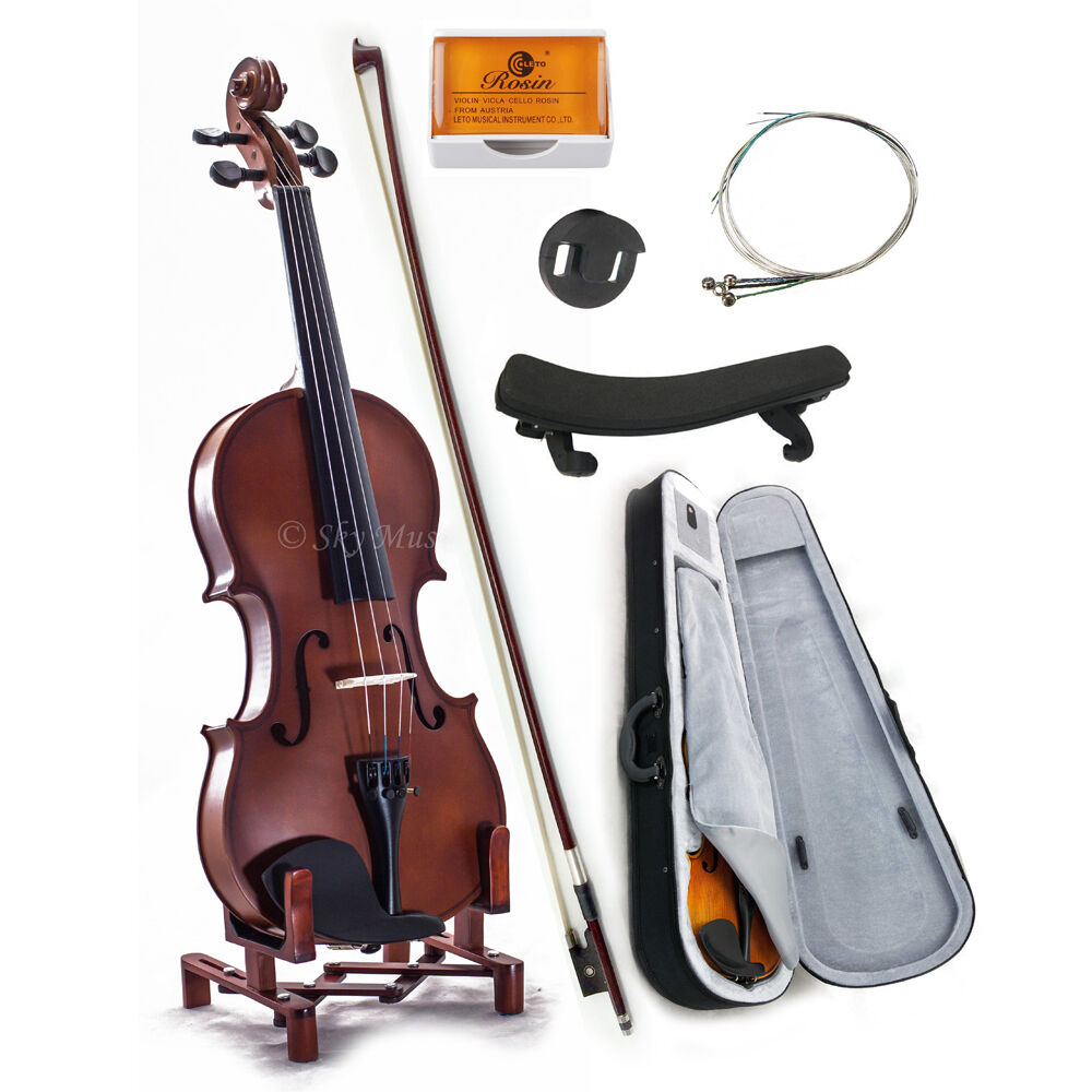 New WOODEN Student Violin VN101 1 2 storlek w Case Bow Rosin String GREAT GIFT