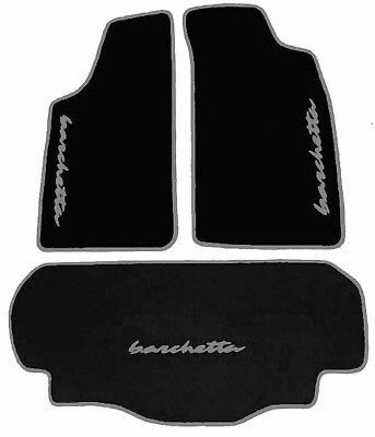 Black Velours Floor Mats And Trunk Carpet For Fiat