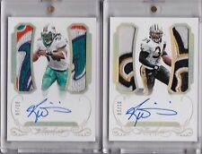 2015 FLAWLESS RICKY WILLIAMS GREATS SAINTS & DOLPHINS LOGO PATCH AUTO GOLD LOT