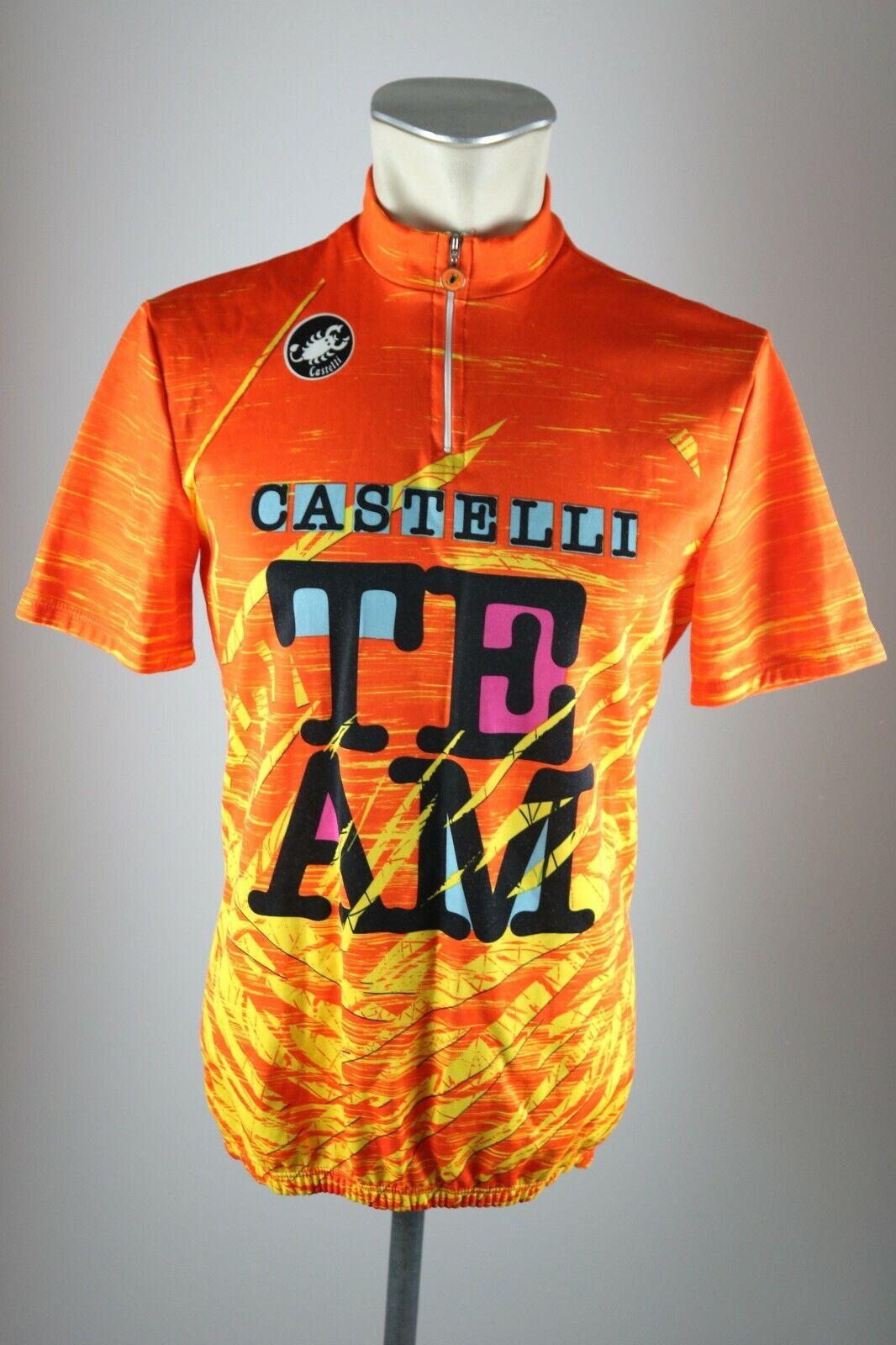 Castelli Team vintage cycling Rad Trikot Gr 5 BW 51cm Bike cycling jersey AZ2