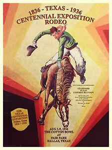 1936-Texas-Centennial-Dallas-Fair-Park-Cotton-Bowl-Rodeo-Print-Poster