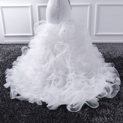 Mermaid Wedding Dress Sheer Lace Up Tulle Ruffles Ruched Court Train Bride Gowns