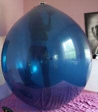 "2x 45""-50"" Riesenballons KRISTALL BLAU+KLAR extrem-belastbar, Party-Spass-Looner"