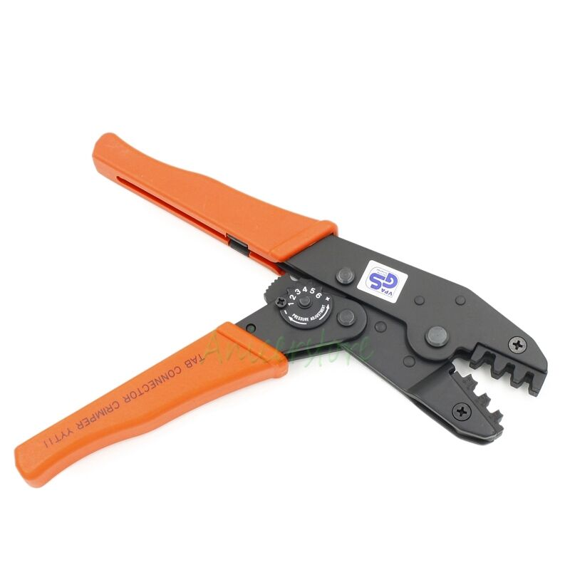 9'' 0.5-6.0mm 22-10 AWG Ratchet Crimping Tool TAB Connectors Pliers Crimper