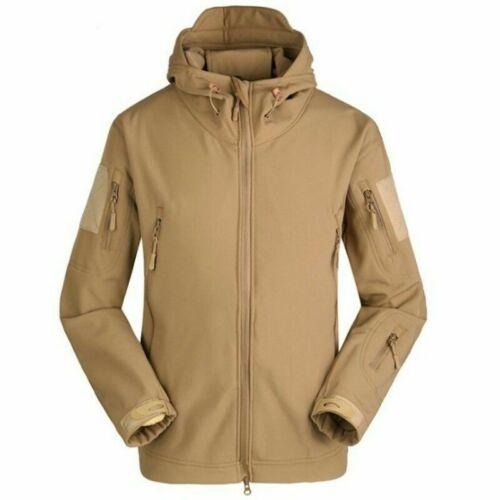 Hommes Randonnée Souple Coque Manteau Polaire Doublé Veste plein à Capuche Coupe