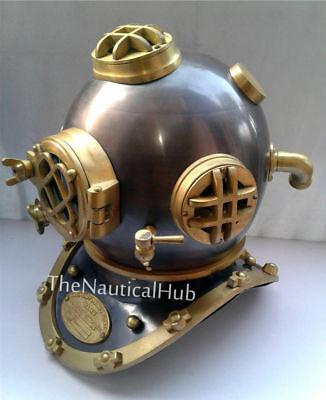 "Antique Diving helmet 18/"" Us Navy Mark V Deep Sca Vintage Divers Helmet Replica"