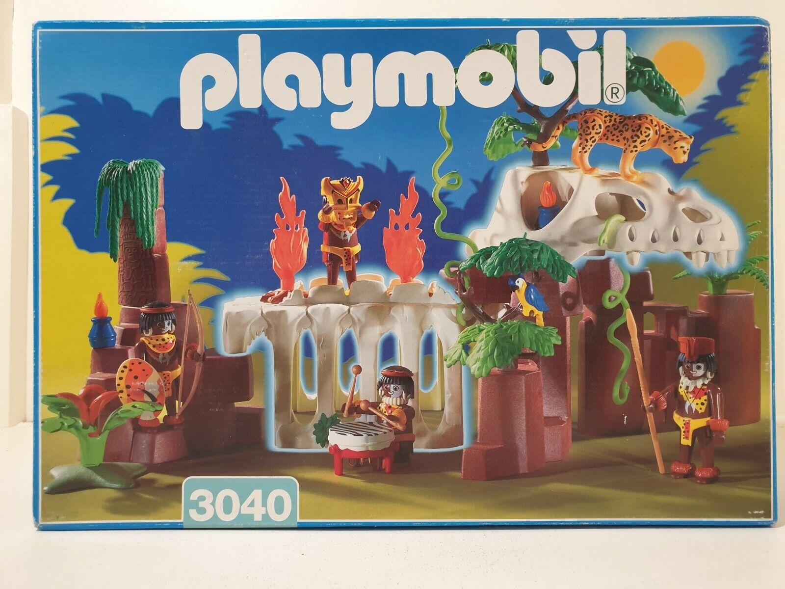 Playmobil   3040 indigen dinosaur skeleton vintage 1998 complete with instructions