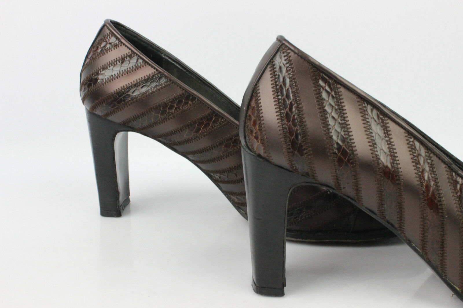 VINTAGE Court shoes THE THOUGHT THOUGHT THOUGHT by ANTONELLA All Leather Bronze T 38,5 59213a