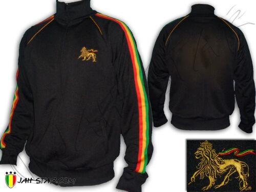 Veste Jacket Rasta Reggae Conquering Lion of Judah Brodé Jah Star Wear