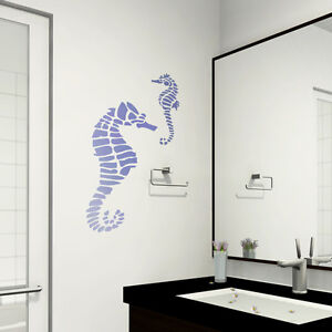 Details About Seahorse Stencil Large Size Stencils Even Better Than Wall Decals Diy Decor