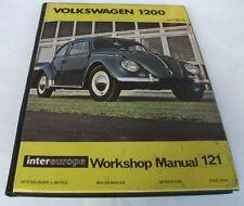 Peter Russek: VOLKSWAGEN 1200 WORKSHOP MANUAL, TO 1964.