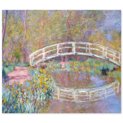 Claude Monet Poster Brücke in Monets Garten