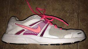 Womens-Nike-Dart-10-580427-100-Reslon-Motion-Fit-Running-Shoes-Sz-8-5-White-Pink