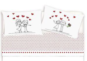 Lenzuola Matrimoniali San Valentino.Completo Letto Stampato Stampa Digitale San Valentino Singolo