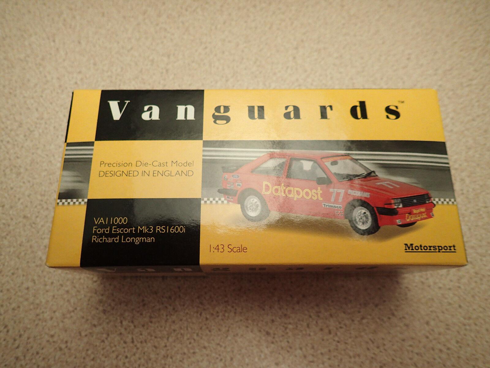 Ltd Edn Corgi Vanguards 1 43 VA11000 Ford Escort Mk3 RS1600i Datapost Untouched