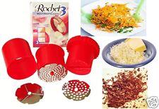 Original Made in Italy Rochet 3 Käse Knoblauchreibe Schoko Karotten Nüsse Reibe
