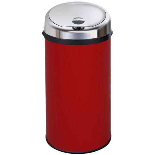 Inmotion 42L Red Stainless Steel Auto Sensor Kitchen Waste Dust Bin