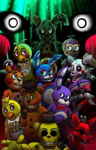 Details about Poster Five Nights at FREDDY'S 2 3 4 Fnaf Fazbear Horror Game  Videogame Game Toy