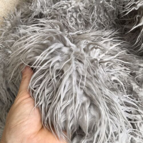 DRIZZLE - Shaggy Faux Fur Fabric - Handy Craft Square