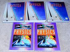 BJU Bob Jones (12th grade) PHYSICS SET (2nd edition, Science 12) - COMPLETE SET!