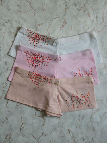 Ladies girls teens everyday multi 3 pack cotton boxers boyshorts size 6 8 10