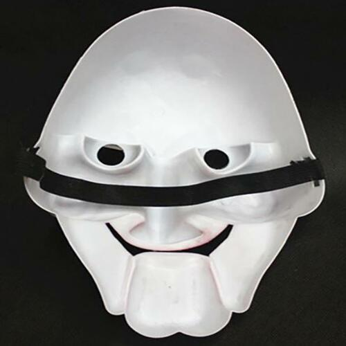 Jigsaw Saw Billy Puppet Face Mask Guy Halloween Cosplay Masquerade Party White