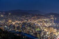 Nagasaki Japan Cityscape Landscape Poster Print 24x36 Hi Res