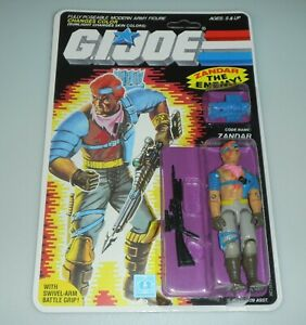 *RECARDED 1986 GI Joe Cobra Zandar Figure Complete Sealed *CUSTOM File Card Back