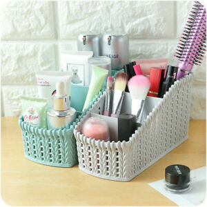 Storage-Plastic-Basket-Box-Bin-Clothes-Container-Laundry-Holder-Makeup-Organizer
