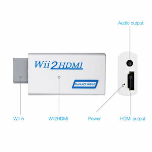 Entrada-de-Wii-a-HDMI-1080P-HD-audio-salida-Convertidor-Adaptador-De-Cable-3-5mm-Jack-De-Audio