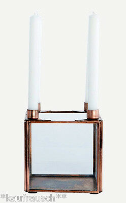 House Doctor Candlesticks Decor box 4 Candles Square copper Advent wreath