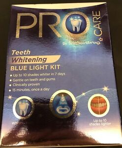 Superdrug Pro Care Teeth Whitening Blue Light Kit Brand New Uk