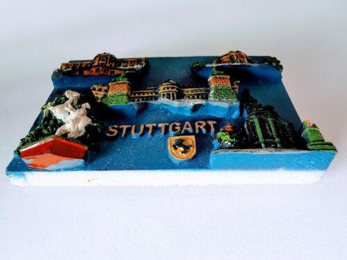 Allemagne Stuttgart 3D Résine tourisme Souvenir Collection aimant de réfrigérateur