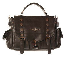 Prohibido Explorer Bolso marrón Steampunk de imitación de cuero de cobre Hebilla bolso de hombro