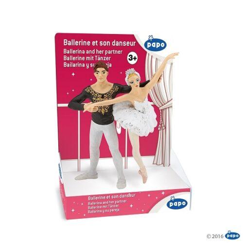 Papo 39128 Ballerina con Ballerino 10 Cm Leggende e Fiabe