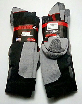 FREE SHIPPING! Wolverine Over-the-Calf Ultra-Dri Boot Sock 6 pr $28.99 XL