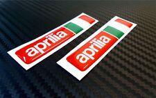 2 ADESIVI APRILIA RACING RESINATI ADESIVO RESINATO 3D STICKERS 6X1,4 CM COD.09