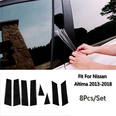 Overun Polished Stainless Steel Center Door Pillar Post Trim Set Designed for 2013-2018 Nissan Altima