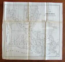 US CONFEDERATE STATES 1862 FL MAP COLLIER COLUMBIA DeSOTO DIXIE DUVAL COUNTY BIG