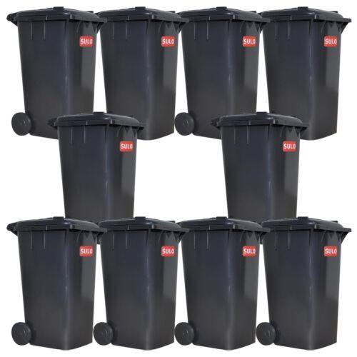 10er Pack SULO Mini Müllbehälter Grau Mülltonne Tischmülleimer Kunststoffbox