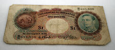 British Barbados 1939 One Dollar $1 Bank Note King George VI Currency Paper