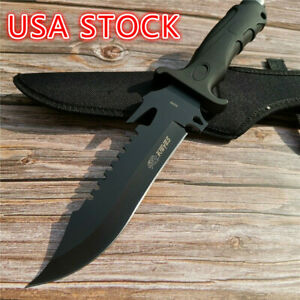12-2-034-Wild-Survival-Hunting-Knife-Outdoor-Straight-Knife-55HRC-Hardness-Straight