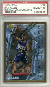 1996-FINEST-REFRACTOR-RAY-ALLEN-22-PSA-10-3-pt-leader-before-Stephen-Curry