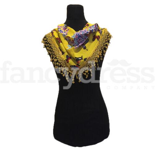 Butterfly Pattern Scarf Shawl Sparkle Yellow Shawl Wrap Headscarf Secret Santa