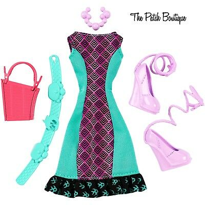 MONSTER HIGH LAGOONA BLUE COMPLETE LOOK CREEPY CUTE DOLL FASHION PACK OUTFIT